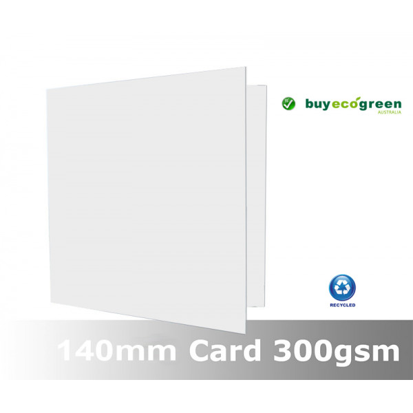 Eco White 300gsm card folded size 140 x 140mm (Pack of 50)