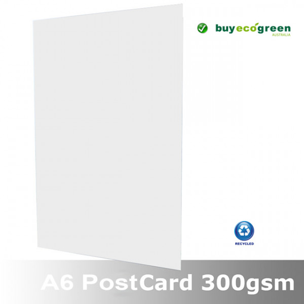 Eco White 300gsm Recycled A6 Postcards 148 x 105mm...
