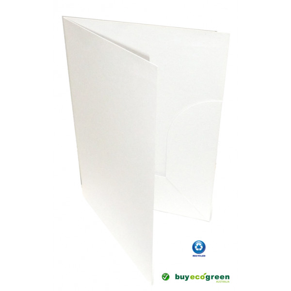 Recycled Presentation Folders A4 - Eco White (Pack...
