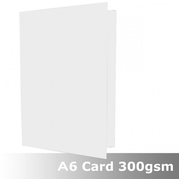 Eco White 300gsm card 148mm x 210mm creased for fo...