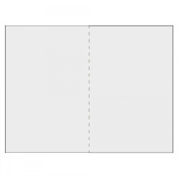 Eco White 300gsm card 148mm x 210mm creased for folding to A6 (Pack of 50)