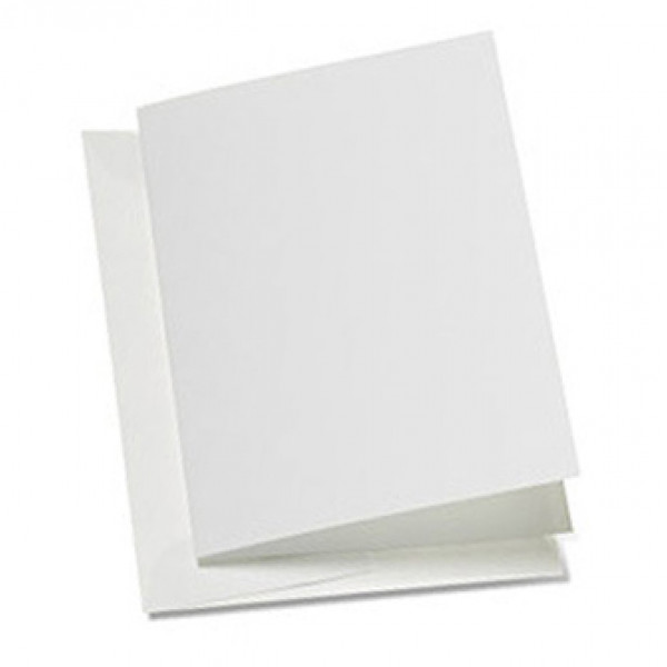 Eco White Greeting Card 240mm x 175mm creased for ...