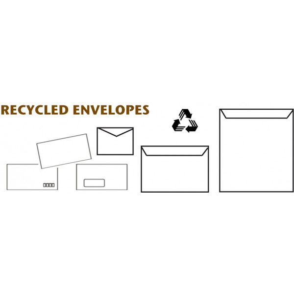 Eco DL Recycled Window Envelopes Box of 500