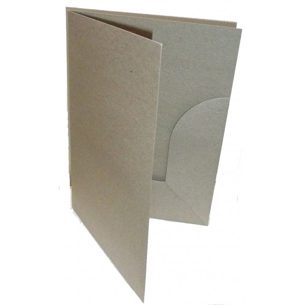 Recycled Presentation Folders A4 - Eco Brown (Pack...