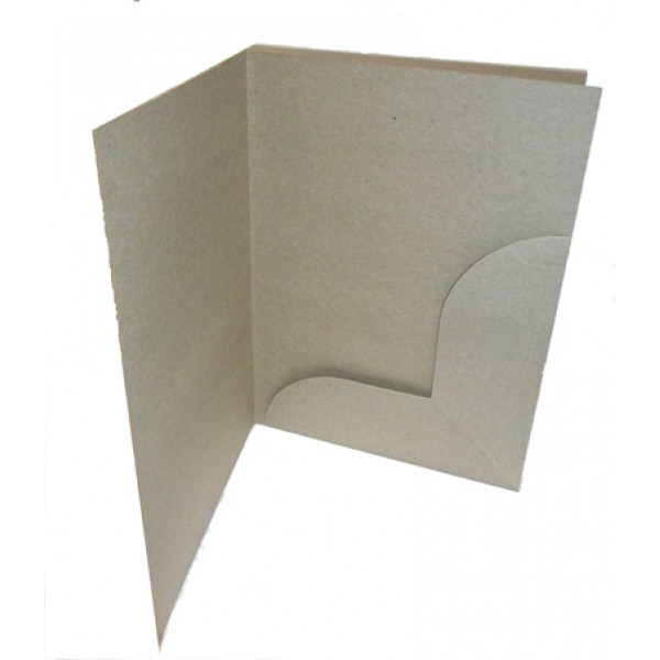 Recycled Presentation Folders A4 - Eco Brown (Pack of 10)