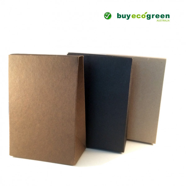 Recycled Gift Satchel (155 x 104 x 55mm) - Chocolate Brown (Pack of 5)