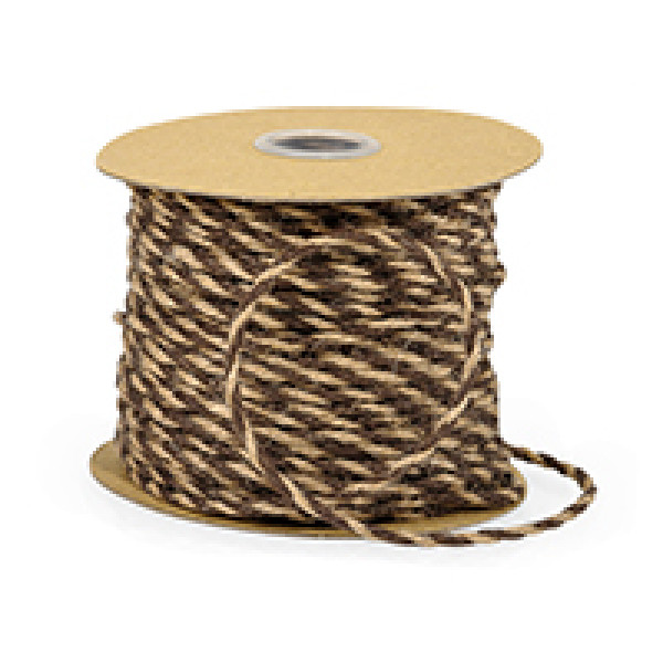 Jute Twine Chocolate and Natural Duo Colour (46m reel)