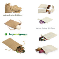 New to the Store - Jute and Cotton Gift Drawstring Bags