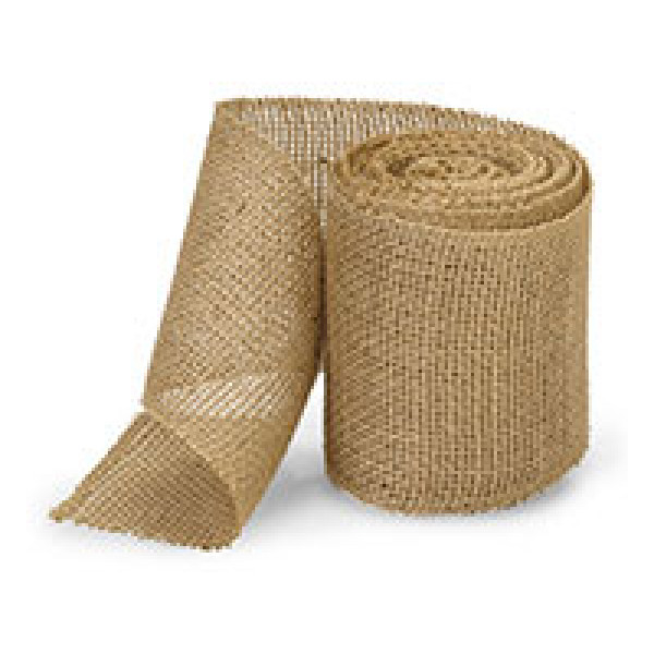 Natural Wide Heavy Jute Ribbon  100mm x 9m