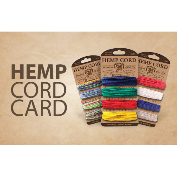 Hemp Cord - Card Set of 4 Harvest colours