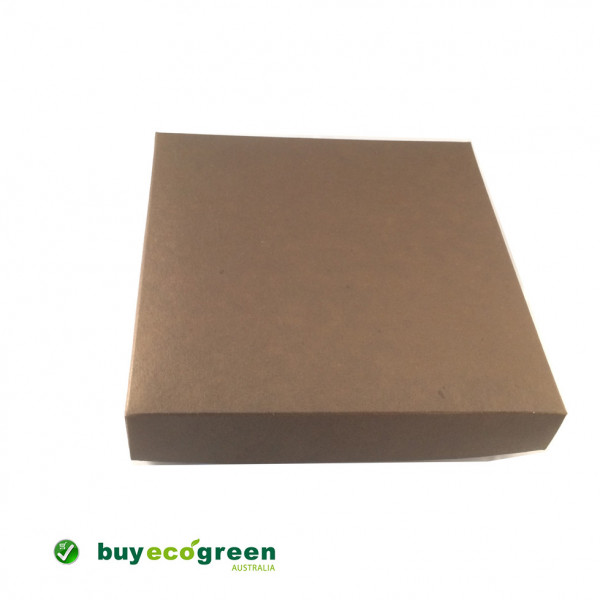Recycled Gift Box (155mm square) - Chocolate and Natural Kraft (Pack of 5)