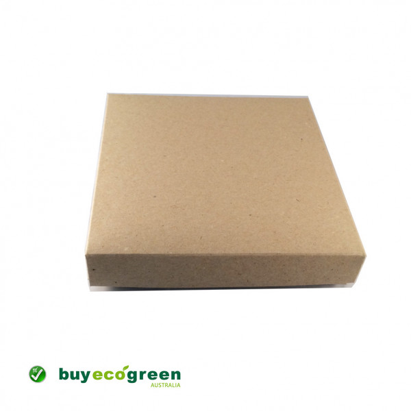 Recycled Gift Box (155mm square) - Natural Kraft (...