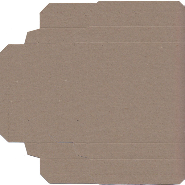 Recycled Gift Box (155mm square) - Natural Kraft (Pack of 5)