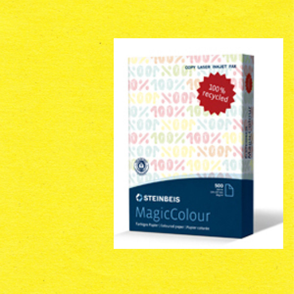 MagicColour A4 Recycled Copy Paper - Canary Yellow...