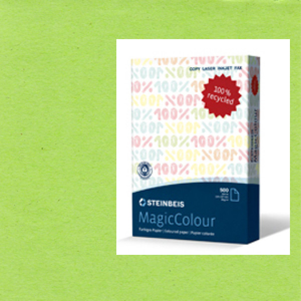MagicColour A4 Recycled Copy Paper - Moss Green (B...