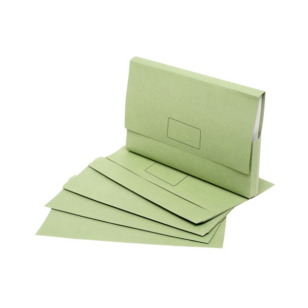 Eco Document Wallets Foolscap Enviro Green Pack of...