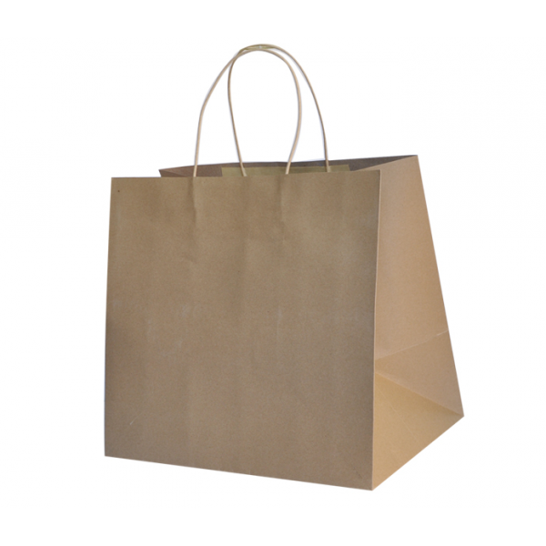 Recycled Brown Paper Small Boutique Carry Bag (Pac...