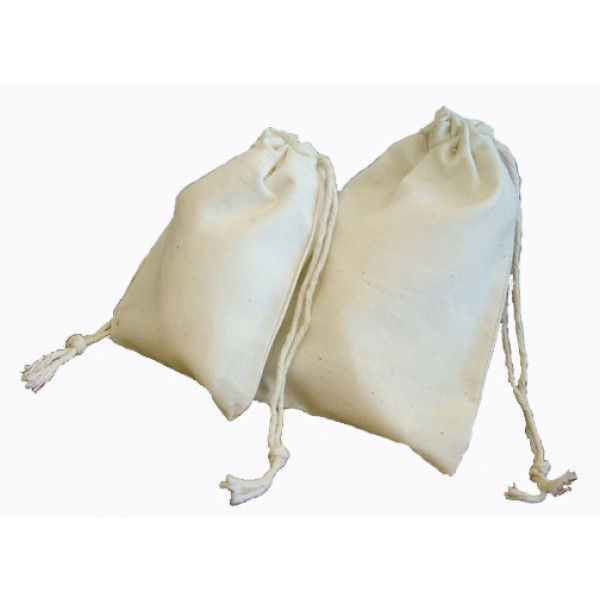 "Cotton Calico Bag 52 x 76mm (2 x3"") with double ..."