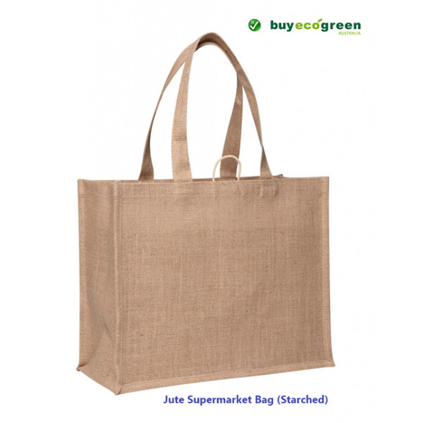 Jute Supermarket Bag (starched)