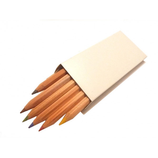 Short Colour Wooden Pencils (Pack of 6)