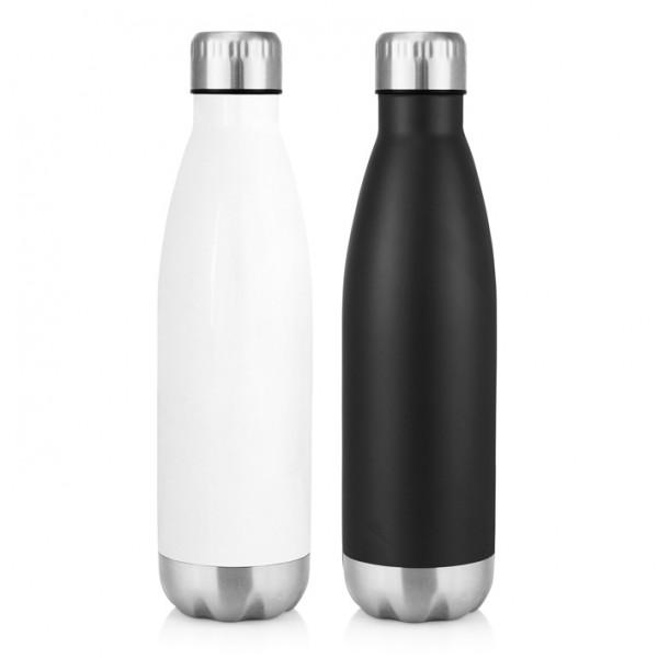 Swish Stainless Steel Double Wall Drink Bottle 500ml (White)