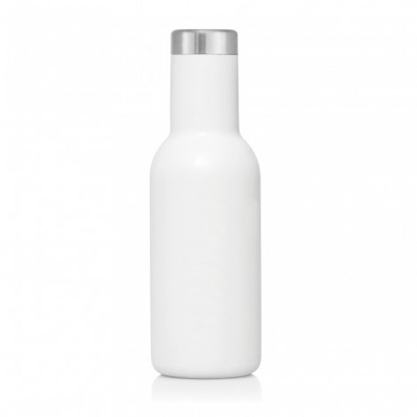 Swish Stainless Steel Double Wall Drink Bottle 600ml (White)