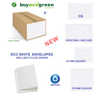New to the Store - Eco White Recycled Envelopes