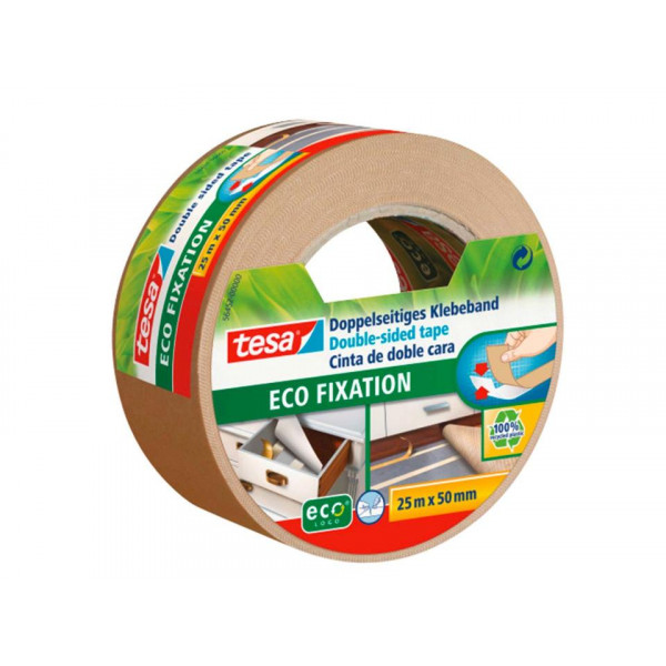 EcoLogo Double Sided Tape 25m Roll, 50mm wide