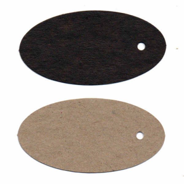 Recycled Swing Tags - Oval (Chocolate) - Pack of 2...