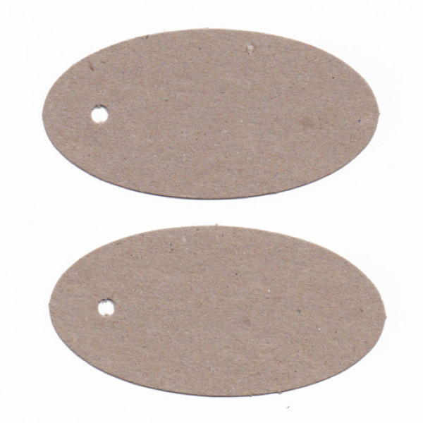 Recycled Swing Tags - Oval (Natural) - Pack of 200