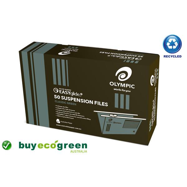 Eco Suspension Files Foolscap - Classic Green - Bo...
