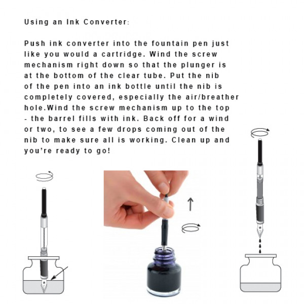 Ink Converter for Fountain Pen