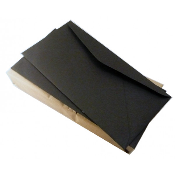 Classic Black Recycled Envelopes DL Banker 120gsm ...