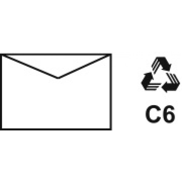 Recycled Envelopes C6 (Pack of 20)