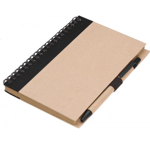 NATURE Recycled Paper Notebook with matching pen