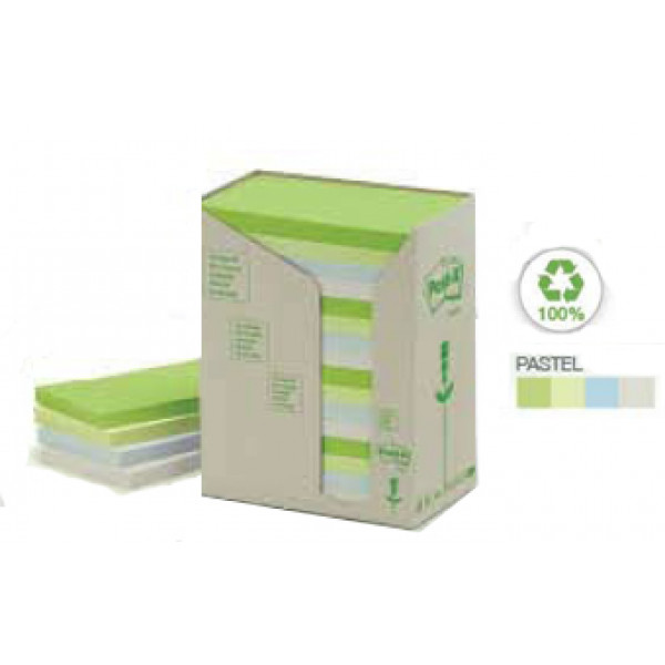 Recycled Post-It Notes Pastels Tower (Pack of 16 P...