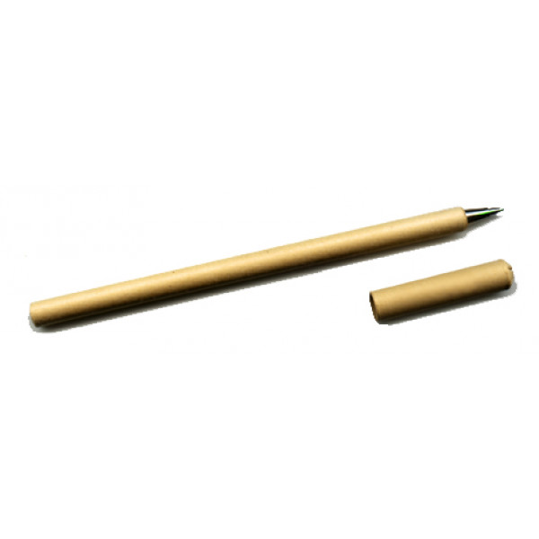Natural Recycled Paper Pen with cap (Blue Ink)