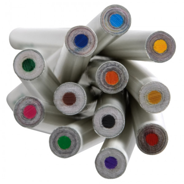Recycled Paper Colour Pencils (Box of 12)