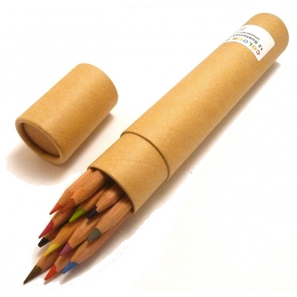 FSC-certified Standard Colour Pencils (Tube of 12)