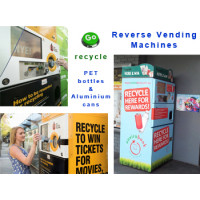 Reverse Vending Machines for recycling bottles and cans