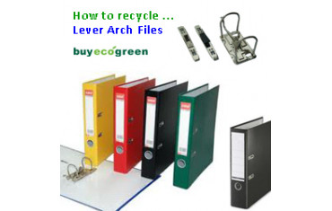 How to recycle ... Lever Arch Files
