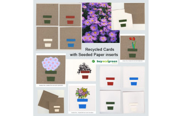 New to the Store - Recycled Cards with plantable Seeded Paper Inserts