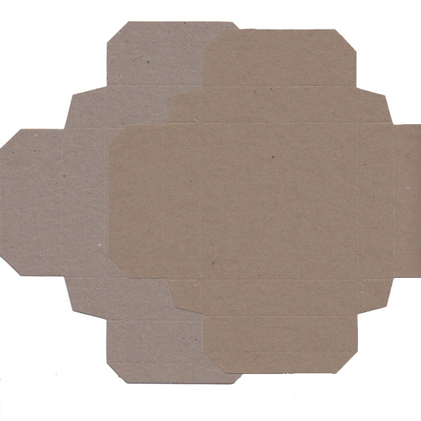 Recycled Gift Box (105mm square) - Natural Kraft (Pack of 5)