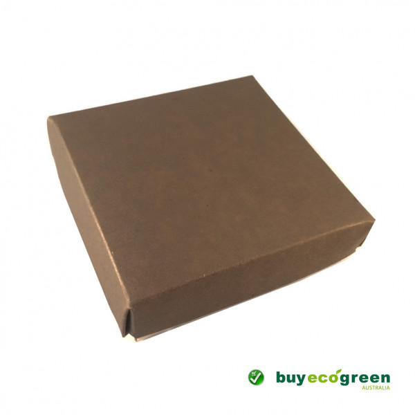 Recycled Gift Box (105mm square) - Chocolate and N...