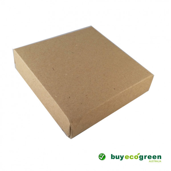 Recycled Gift Box (105mm square) - Natural Kraft (...
