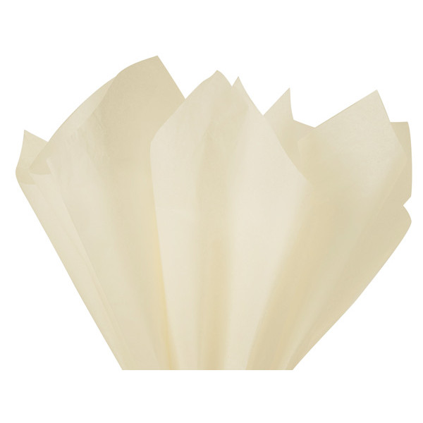 Recycled Tissue Paper - Soft Ivory 100% Recycled ( Pk of 24 sheets )
