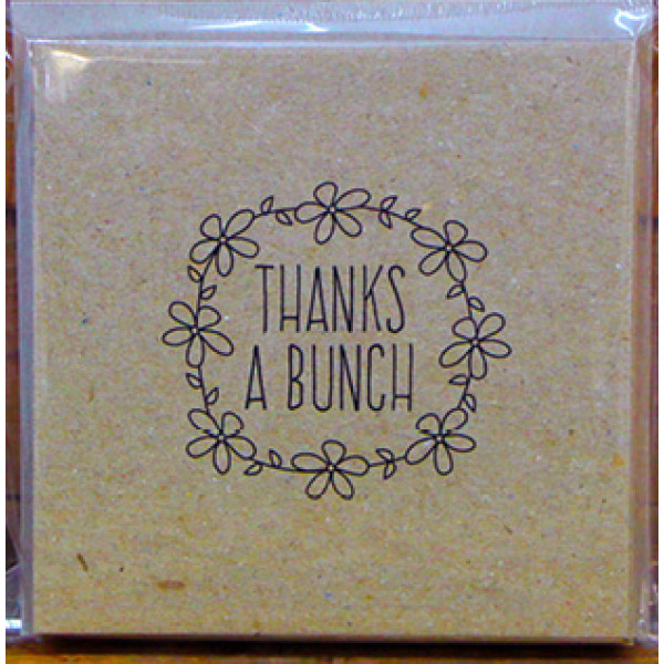 Thanks a Bunch cards - Eco Brown square card and envelope (Pack of 10)