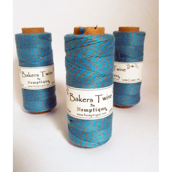 Bakers Twine - Turquoise and Gold