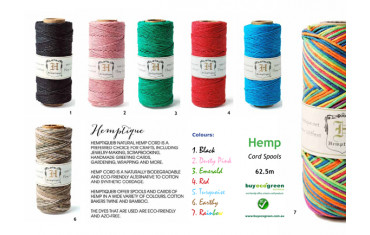 New to the Shop: biodegradable Hemp Twine
