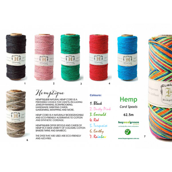 Hemp Twine Multi Colour -  Rainbow